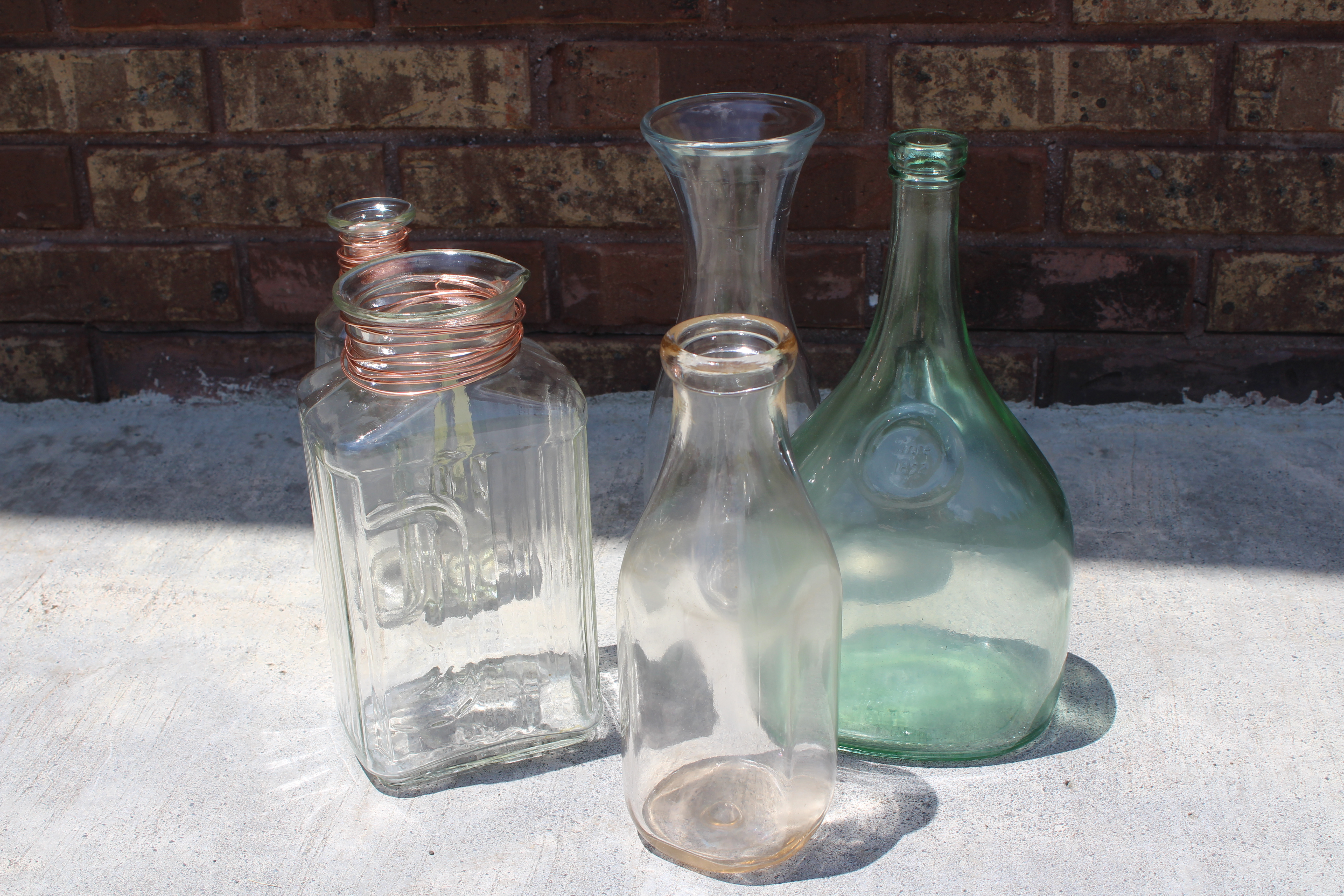 Easy Farmhouse Decor Glass Bottle Flower Arrangement Busy