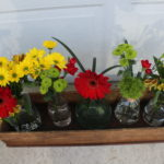Easy Farmhouse Decor: Glass Bottle Flower Arrangement