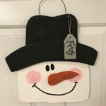 DIY:  Wooden Snowman Door Hanger